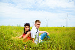 Happy man and woman Royalty Free Stock Photography