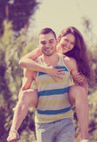 Happy man and woman Royalty Free Stock Photo