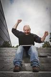 Happy Man Working Stock Photos