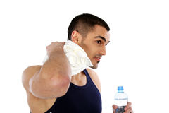 Happy man after workout. Sport and Fitness - Happy man after workout Stock Image