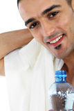 Happy man after workout. Sport and Fitness - Happy man after workout Royalty Free Stock Photos