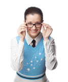 Happy manager with glasses Royalty Free Stock Photo