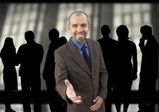 Happy manager and group Stock Image