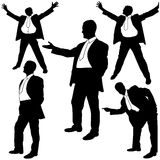 Happy Manager Silhouettes Royalty Free Stock Images