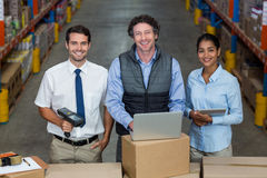Happy managers are posing during work Royalty Free Stock Photography