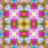 Happy mandala in spring colors Royalty Free Stock Photo