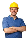 Happy manual worker Royalty Free Stock Images