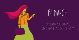 Happy 8 march international women`s day concept Stock Photography