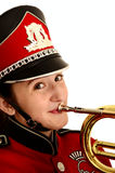 Happy marching band student Royalty Free Stock Images