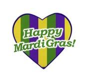 Happy Mardi Gras Icon Stock Photography