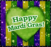 Happy Mardi Grass Background Stock Image