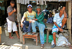 Happy market sellers - Cartagena real life. Royalty Free Stock Photography