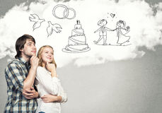 Happy marriage Royalty Free Stock Image