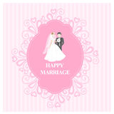 Happy marriage or wedding invitation Royalty Free Stock Photography