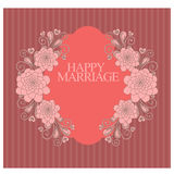 Happy marriage or wedding invitation Stock Images