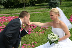 Happy married Royalty Free Stock Photos