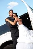 Happy married couple on wedding-day Stock Photography