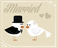 Happy married Royalty Free Stock Image