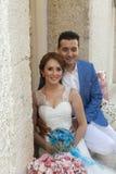 Happy marrying couple Stock Photo