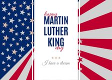 Happy Martin Luther King Day greeting placard Royalty Free Stock Photo