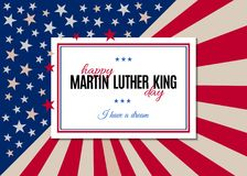 Happy Martin Luther King Day greeting placard Stock Photos