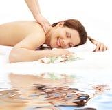 Happy massage on white sand #2 Royalty Free Stock Images