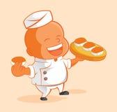 Happy master sushi chef Royalty Free Stock Photos