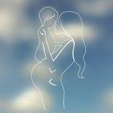 Happy maternity illustration Stock Image