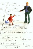 Happy mathematics. Discovering the difficult world of mathematics stock photography