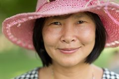 Happy mature Asian Woman Stock Photo