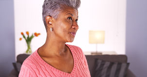 Happy mature black woman Royalty Free Stock Photo
