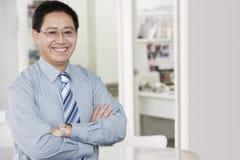 Happy Mature Businessman Royalty Free Stock Image