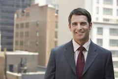Happy Mature Businessman. Portrait of a happy mature businessman Stock Photo