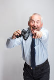Happy mature businessman Stock Photos