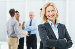 Happy Mature Businesswoman Stock Photography