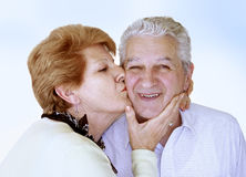 Happy mature couple. Golden age love Royalty Free Stock Images