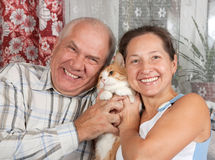 Happy mature couple Stock Images