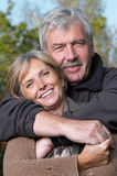 Happy mature couple Stock Photos