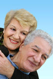 Happy mature couple. Elderly couple smiling Royalty Free Stock Photography