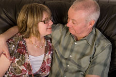 Happy mature couple. Royalty Free Stock Image