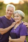 Happy Mature couple stock image
