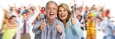 Happy mature couple. royalty free stock photo
