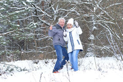 Happy mature couple have fun Royalty Free Stock Images