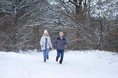 Happy mature couple have fun Stock Photos
