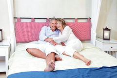 Happy mature couple at home Stock Photography