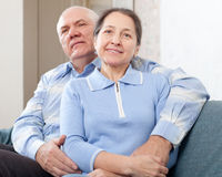 Happy  mature couple  in home Stock Images