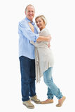 Happy mature couple hugging and smiling Royalty Free Stock Photo