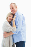 Happy mature couple hugging and smiling Royalty Free Stock Images