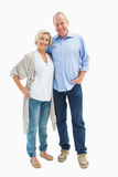 Happy mature couple hugging and smiling Royalty Free Stock Photography
