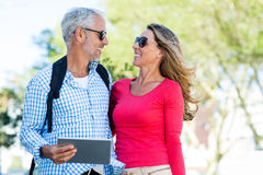 Happy mature couple looking at each other Stock Photography